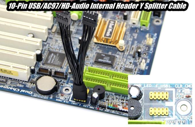 Buy The Oem 10 Pin Usb Ac97 Hd Audio Internal Header Y